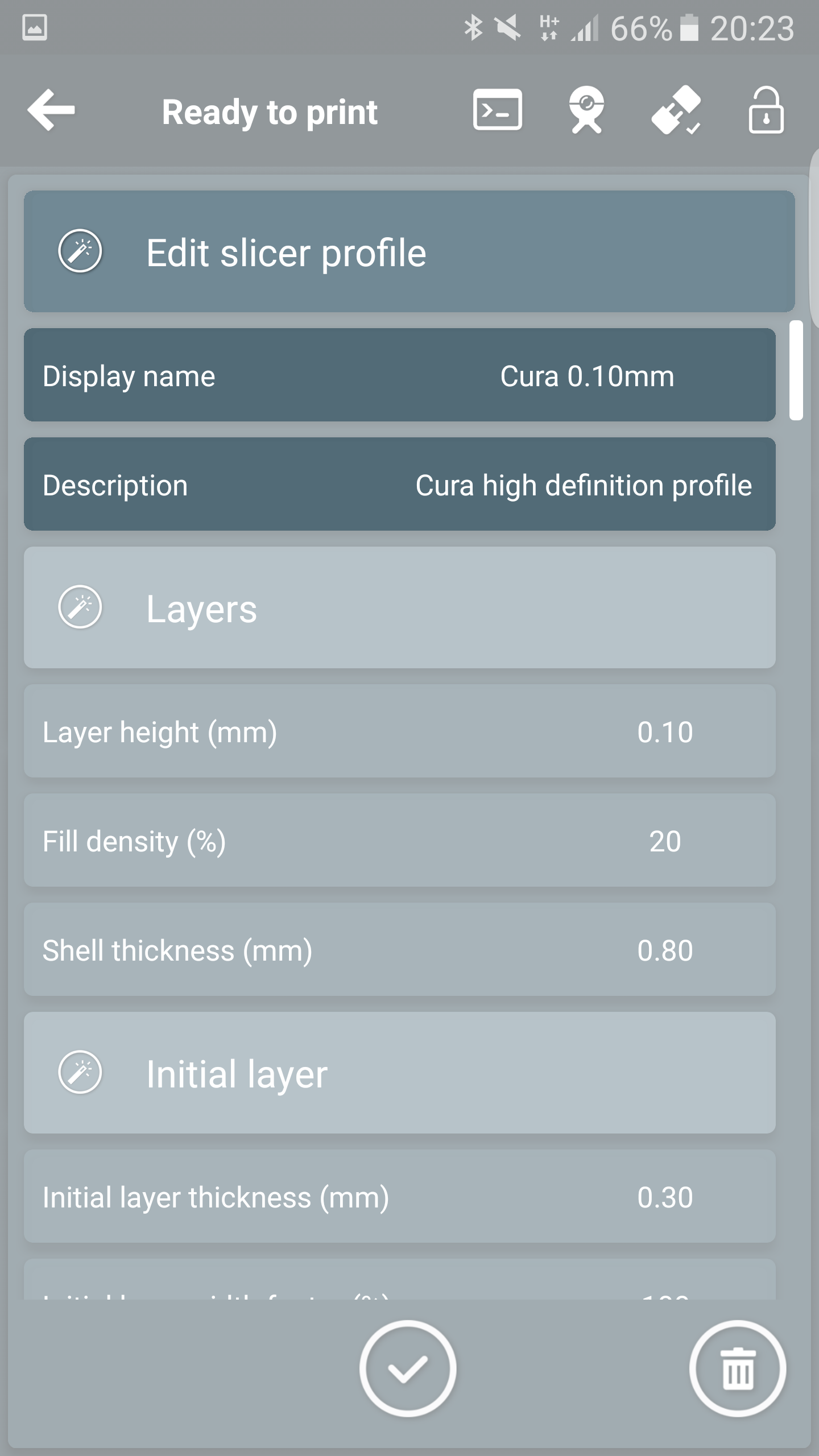 Trick #2: Create a new slicer profile – Printoid for OctoPrint