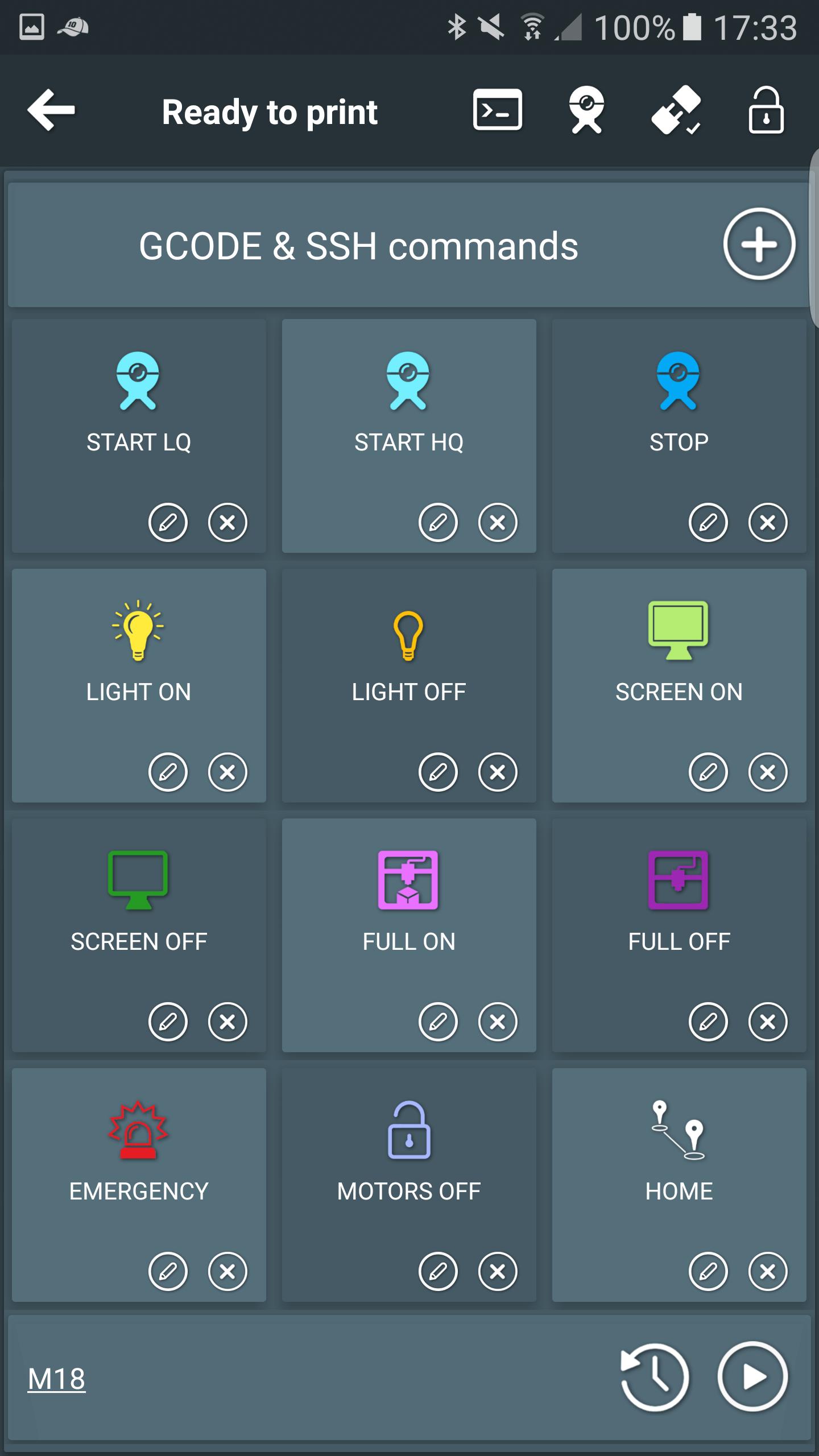 Backup Camera Installation Service >> Trick #7: Send custom GCODE commands – Printoid for OctoPrint