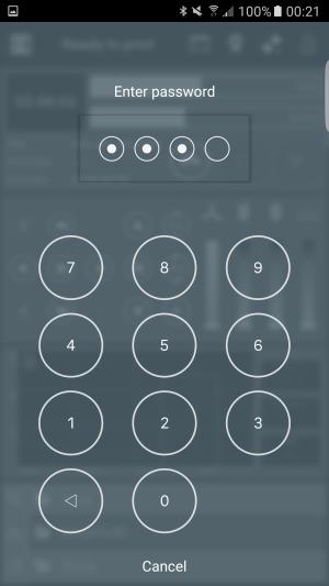 (The password locker in portrait mode)