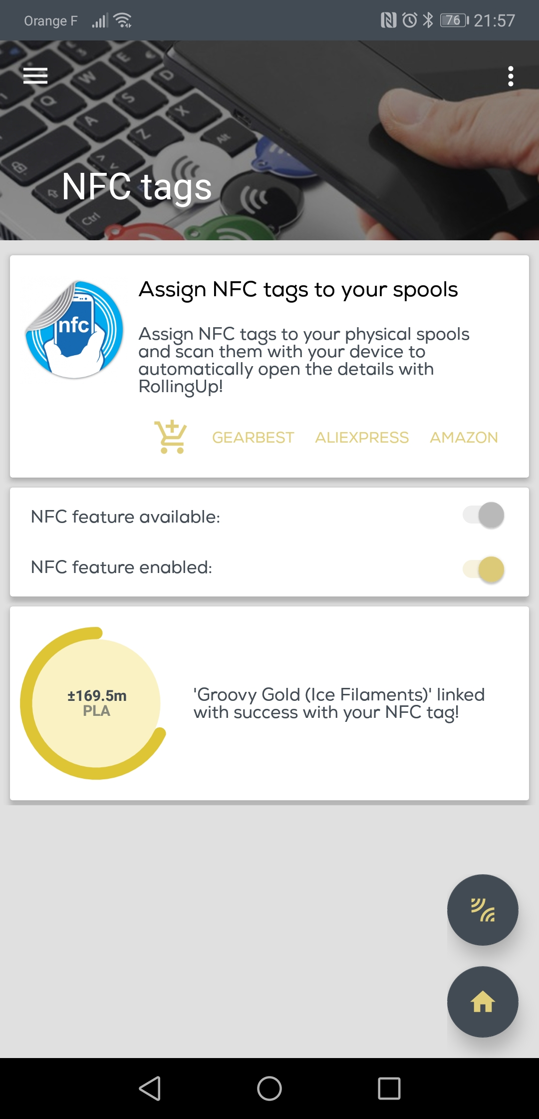 NFC tags – Printoid for OctoPrint
