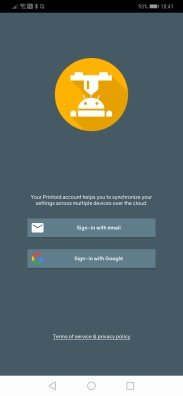 (Create your account from email address or using your Google account)