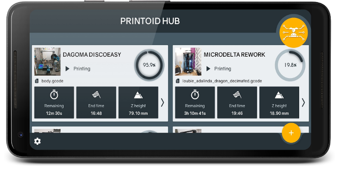 Printoid for OctoPrint – Redefine your 3D printing experience